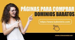 Páginas para comprar dominios baratos