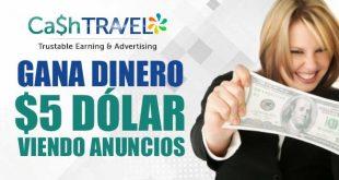 CashTravel PTC - GANA DINERO VIENDO ANUNCIOS