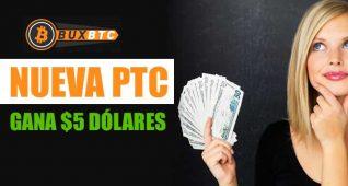 Nueva PTC Buxbtc Gana Bitcoins Gratis