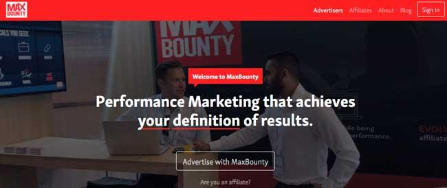 MaxBounty comprobante de pago