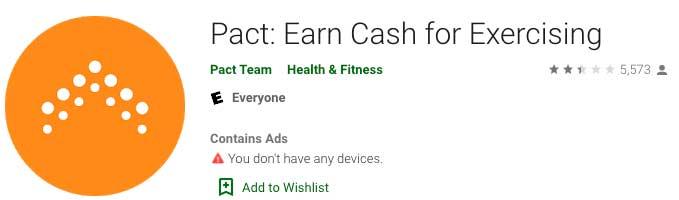 Earn Cash For Exercising